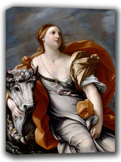Reni, Guido: Europa and the Bull. Fine Art Canvas. Sizes: A4/A3/A2/A1 (002105)